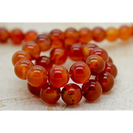 50-55 Carat 5-6 MM Jewelry Making Crafts Wholesale Price Natural Carnelian Beads Button Shape Smooth Beads| 13  Inches Strand