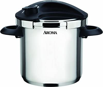 Aroma Housewares APC-600S Stainless Steel Pressure Cooker, 5-Liter