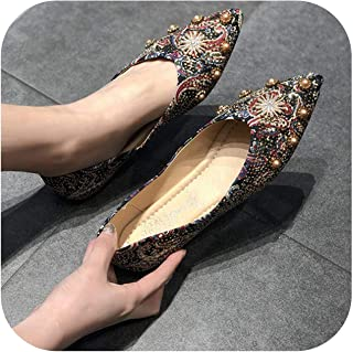 Women's Shoes Super fire 2020 Summer New Scoop Shoes Pointed Shallow Mouth Flat Evening Shoes a Pedal Casual Shoes