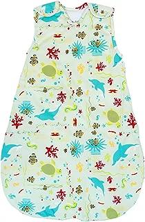 Baby Sleeping Bag - Wearable Blanket, 100% Cotton,  Summer Model,  1 Tog