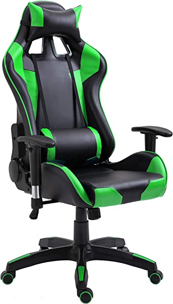 Ultimate Office Desk Chair Have New Gaming Styling Leather Swivel Executive Office Home Chair With Adjustable Headrest Lumbar Support Green