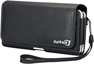 Jlyifan Dual Poacket Horizontal Executive Holster Belt Clip Pouch Case for iPhone X/iPhone 8 Plus/Samsung Galaxy Note 8 / S8 Active/Motorola Moto G5 Plus / E4 Plus/Moto Z2 Play/HTC U11 / HTC U Ultra