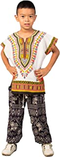 Lofbaz Unisex Child Traditional African Printed Dashiki
