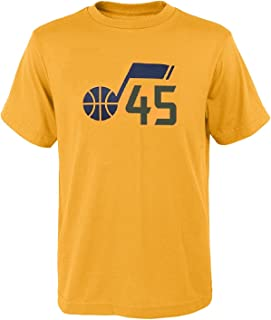Donovan Mitchell Utah Jazz #45 Youth Gold Player Name & Number T-Shirt