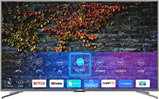 75 Inch 4K UHD LED ANDROID SMART TV With Digital Netflix And Youtube evvoli 75EV600US