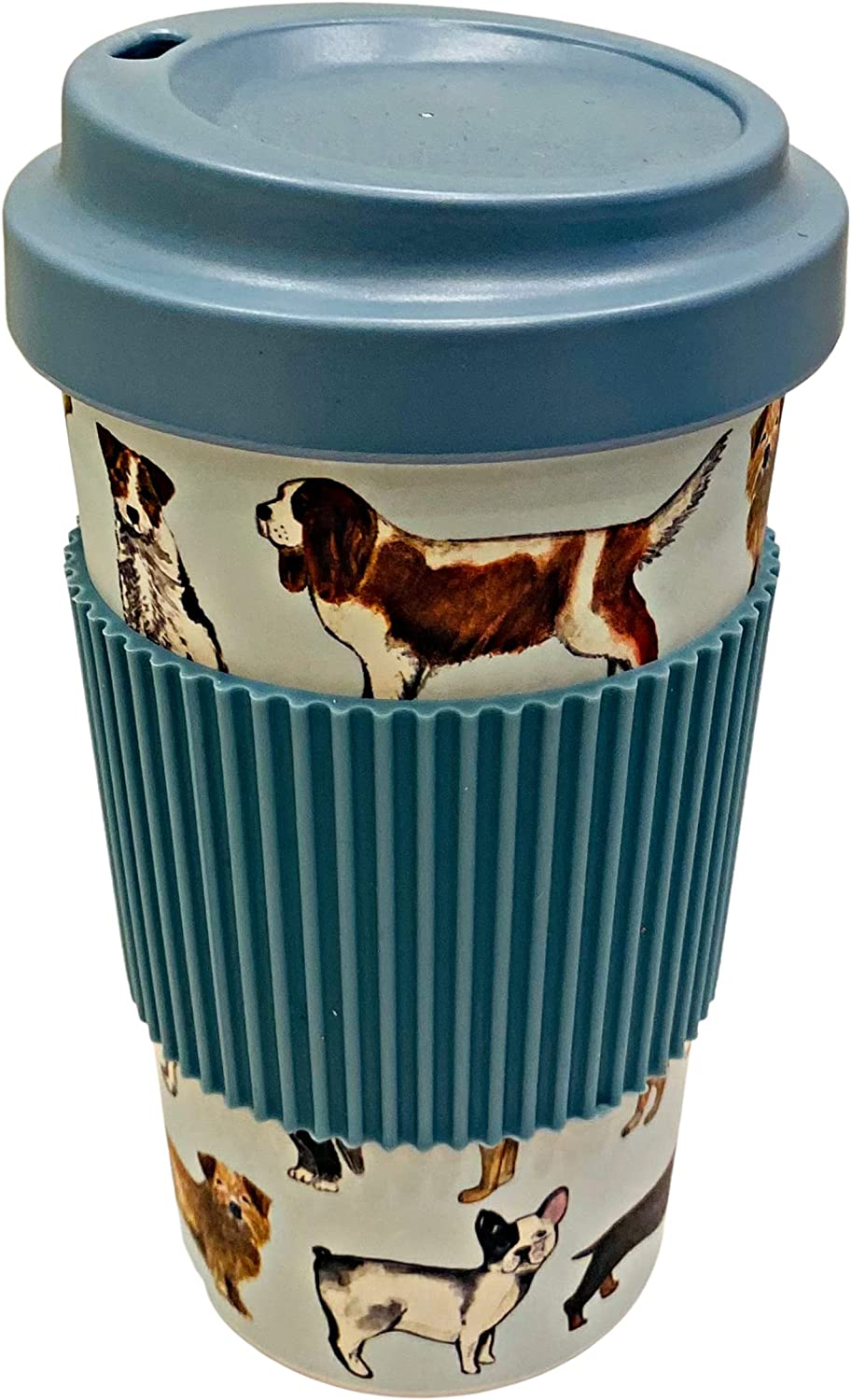 Dog Lover Bamboo Fiber Travel Tumbler with Sippy Lid and Ribbed Gripper