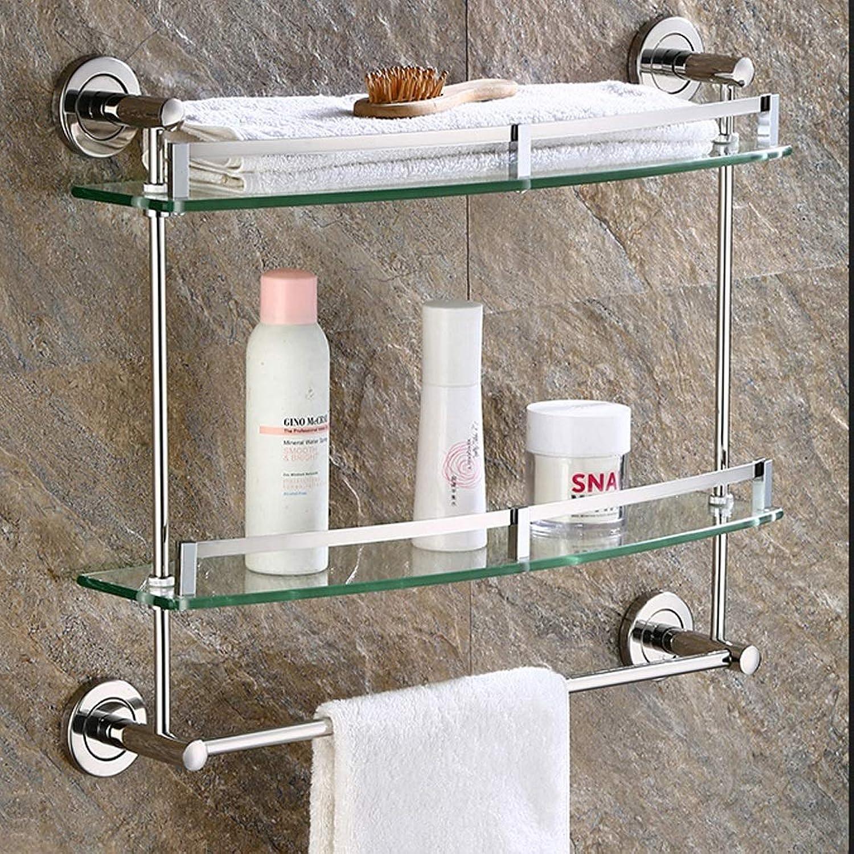 Chrome Steel Stainless in Shelf Bathroom for Glass Tempered