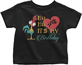 LeetGroupAU HEI HEI It's My 3rd Birthday Toddler T-Shirt Black