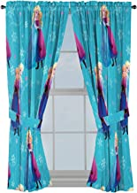 "Jay Franco Disney Frozen Swirl 63"" Inch Drapes 4 Piece Set - Beautiful Room Décor & Easy Set Up, Bedding Features Anna & E..."