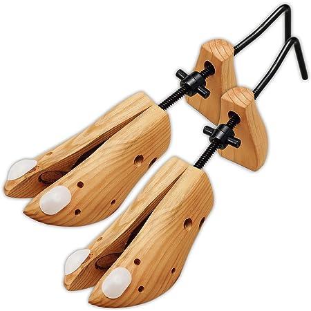 コモライフ シューズフィッター ストレッチャー シューキーパー 靴ズレ 靴伸ばし パンプス 左右兼用 サイズ調整 女性 男性 約22~27cm 1900/01/01個入