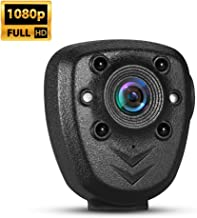 BOBLOV 1080P Mini Camera with Night Vision Wearable Body Worn Cameras with 360° Rotating Clip Potable Video Recorder Pocket DVR Integrated Camera