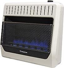 ProCom MG30TBF Ventless Dual Fuel Blue Flame Wall Heater Thermostat Control – 30,000 BTU, Black
