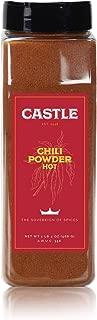 Castle Foods   HOT CHILI POWDER, 20 oz Premium Restaurant Quality - Unblended