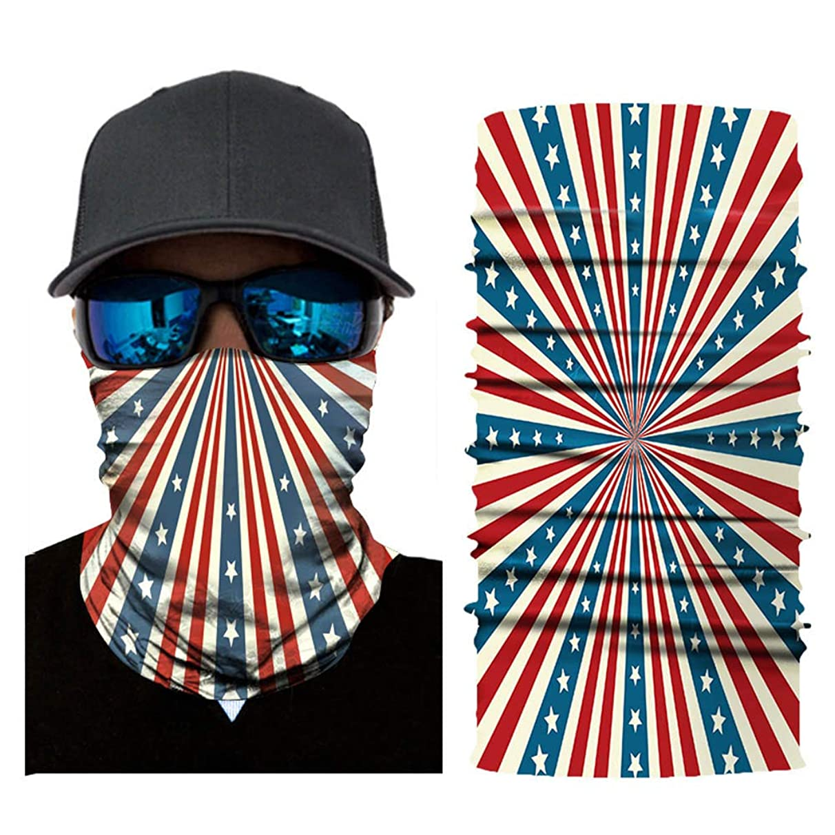 American Flag Face Mask Breathable Seamless Outdoor Windproof Head Scarf Neck UV Protection Headband