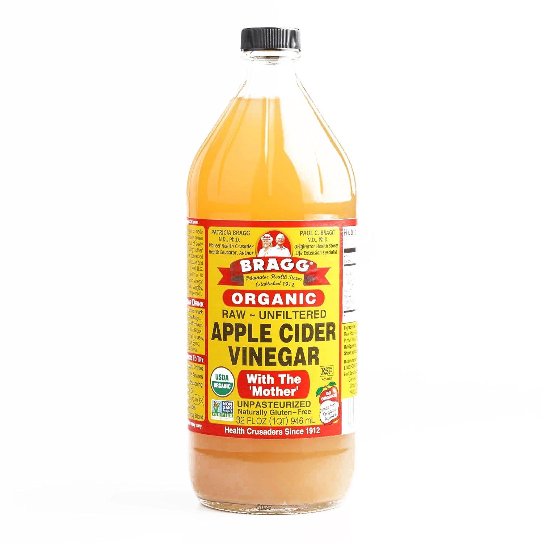Bragg Organic Raw Apple Cider Vinegar 32 oz each (3 Items Per Or