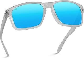 Premium Polarized Mirror Lens Classic Square Style Sunglasses
