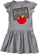 inktastic Chalkboard and Apple School Toddler Dress