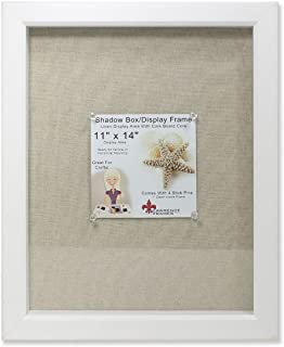 Lawrence Frames Shadow Box Frame with Linen Inner Display Board, 11 by 14-Inch