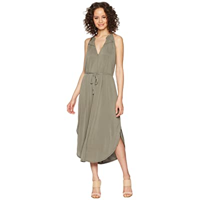 Splendid Waist Tie Dress (Military Olive) Women