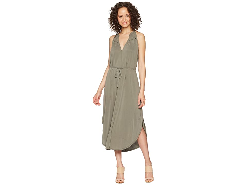 Splendid Waist Tie Dress (Military Olive) Women