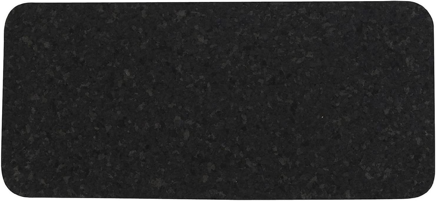 ORE Pet Skinny Recycled Rubber Rectangle Pet Placemat - Black