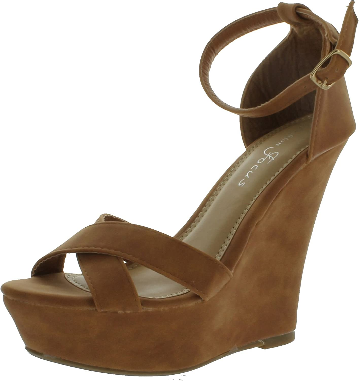 Fashion Focus Womens Ardo-32 Wedge Sandals