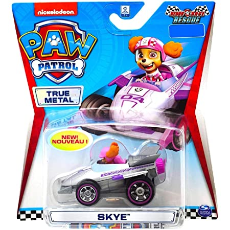 Super Rare Ultra Rare! DieCast 2020 PawPatrol-Skye on Motorcycle with Pink Wheels