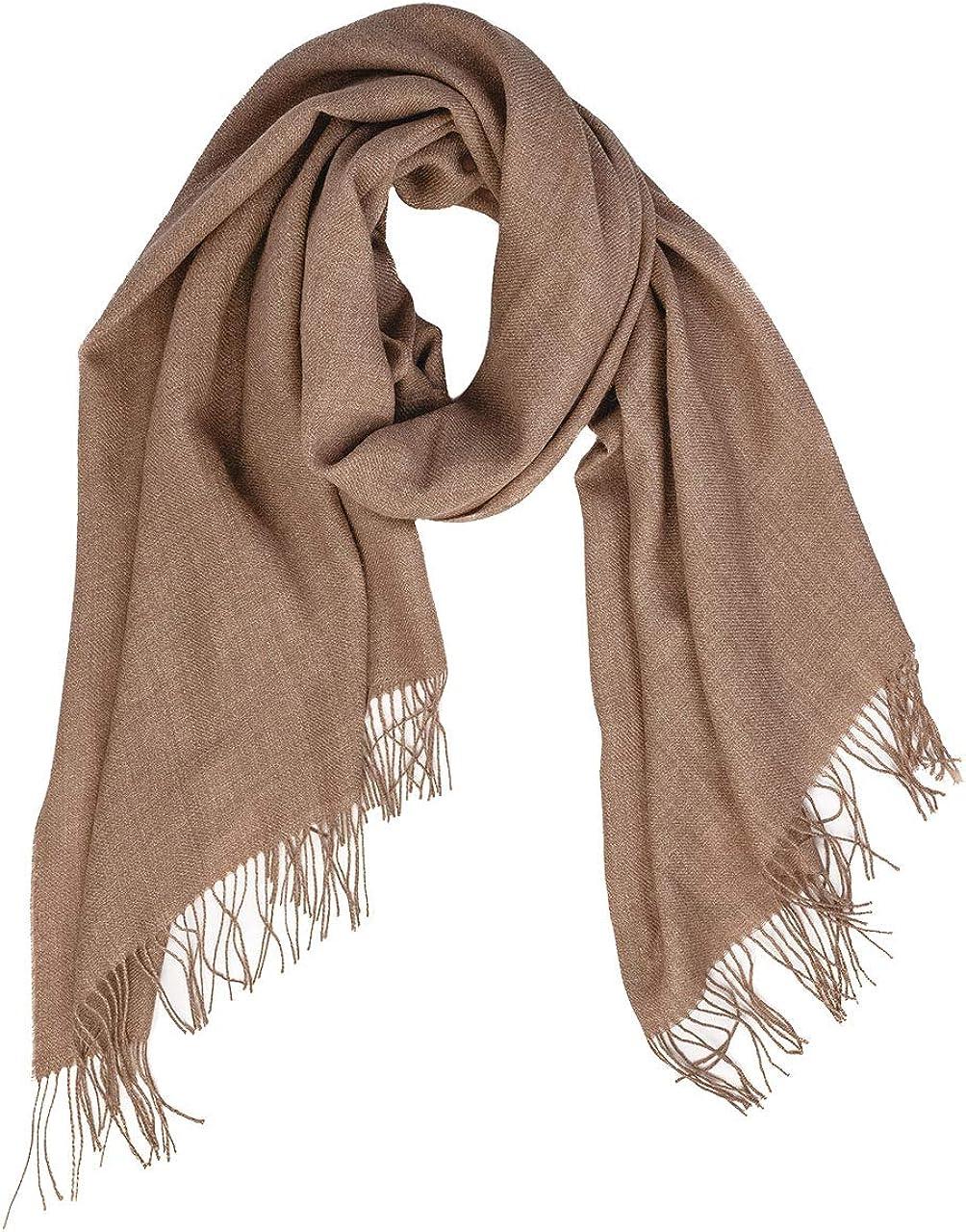 Inca Fashions - Oversized Scarf & Shawl, 100% Baby Alpaca Wool - Organic & Dye-Free - Unisex | 27.5 x 78.5 inches