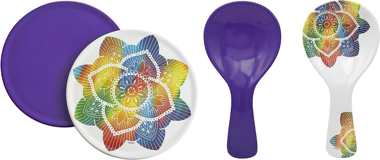 bzyoo Cheap bargain BPA-Free Dishwasher SEAL limited product Safe 100% + Melamine Spoon Rest Trivet