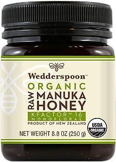 Wedderspoon Raw Organic Manuka Honey KFactor 16+, Unpasteurized, Genuine New Zealand Honey, Multi-Functional, Non-GMO Supe...