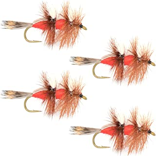 The Fly Fishing Place Royal Double Humpy Trout Dry Fly Fishing Flies - Set of 4 Flies Size 10