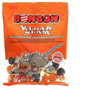 Toms BonBon Kloak Slam - Bolsa rígida para caramelos (Salmiakki), color caramelo
