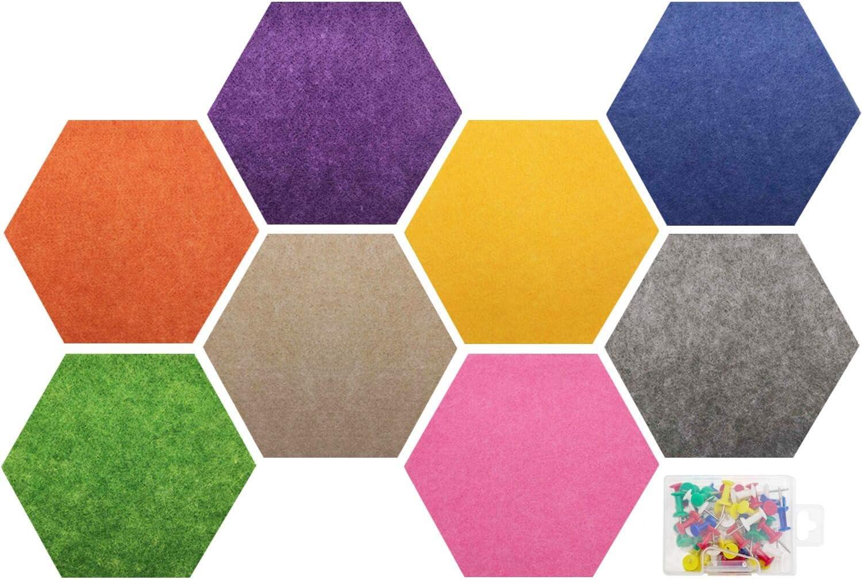 Felt Bulletin Fees free!! Board Multiple Pin Hexagon Color Albuquerque Mall with