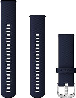 Garmin - Correa de liberación rápida (22 mm), Color Azul Oscuro con Accesorios Plateados