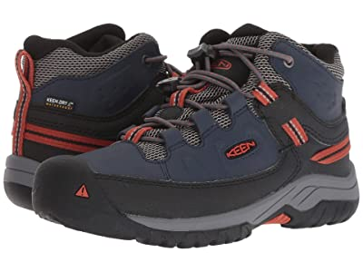 Keen Kids Targhee Mid WP (Little Kid/Big Kid) (Blue Nights/Roobios) Boy