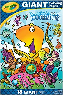 Crayola - 18 Gaint Coloring Pages Mer-Creatures