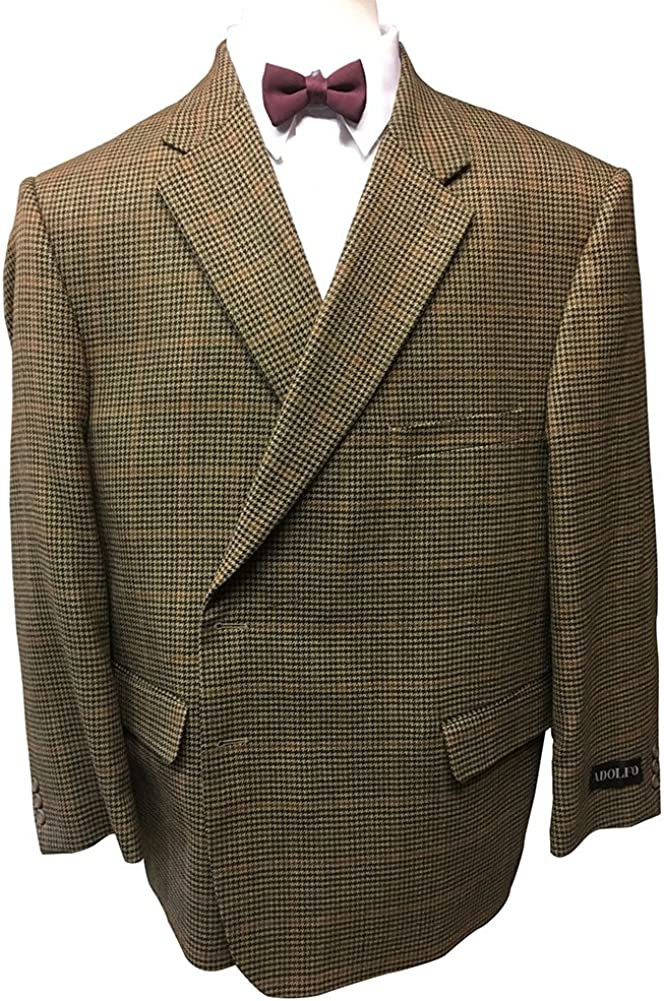 Jean-Paul Germain Lambswool Big and Tall Houndstooth Check Portly Executive Sport Jacket