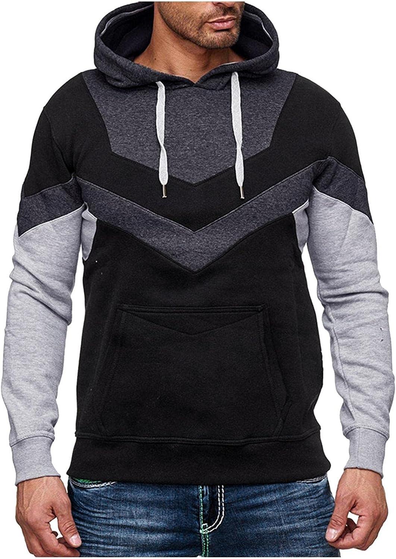 Qsctys Men's Sportswear Fleece Full Contrast Zip shopping - New product! New type Hoodies Color
