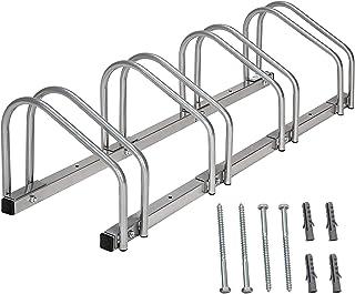 comprar comparacion Todeco Soporte para Aparcar Bicicletas, Puesto de Bicicletas, Se Adapta a 4 Bicicletas, Tamaño: 99 x 32 x 26 cm, Tipo de i...