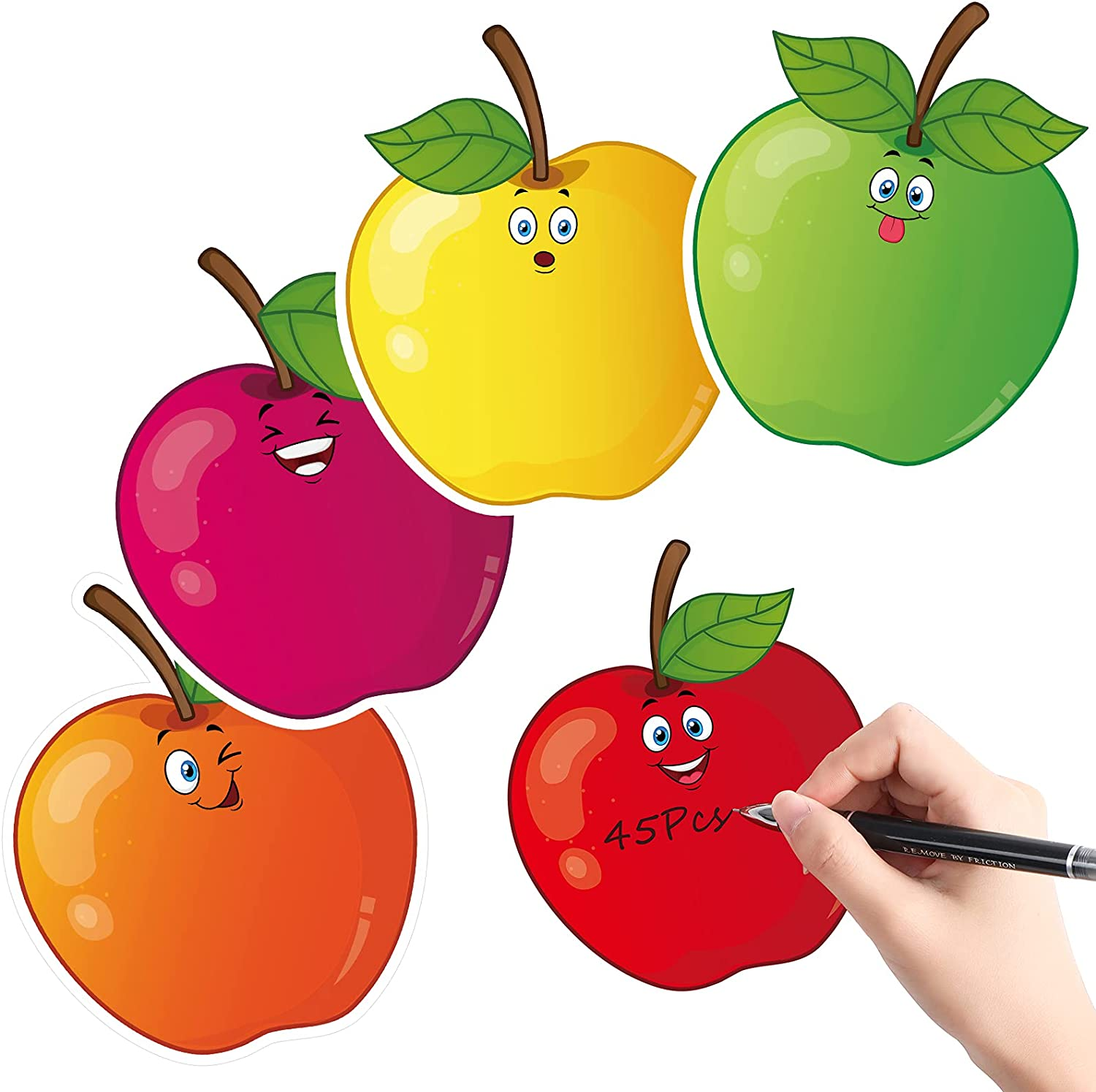 45 Pieces Colorful Fruits Cut-Outs, Fruit Accents Paper Cutouts Fruit Name Tags Labels Bulletin Board Classroom Decoration for Teacher Student Back to School Party Supplies, 5.1 x 6.3 Inch