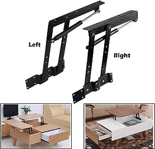 2pcs Folding Lift up Top Coffee Table Lifting Frame Desk Mechanism Hardware Fitting Hinge Spring Standing Rack Hinge Rack Bracket (Gas Hydraulic)