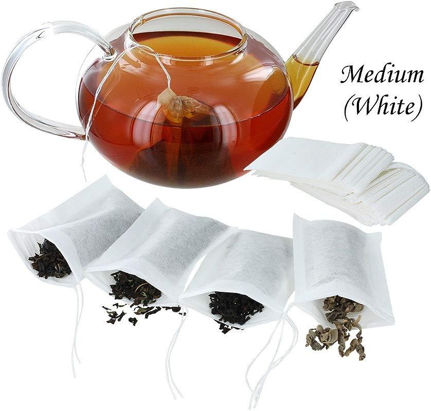 ETS Drawstring Tea Filters Pack Of 100 Medium White