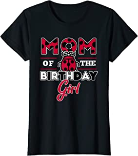 Womens Mom Of The Birthday Girl Ladybug Theme Mommy Party T-Shirt
