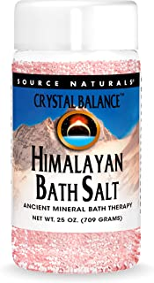 Source Naturals Crystal Balance Himalayan Bath Salt, Ancient Mineral Bath Therapy, 25 Oz.