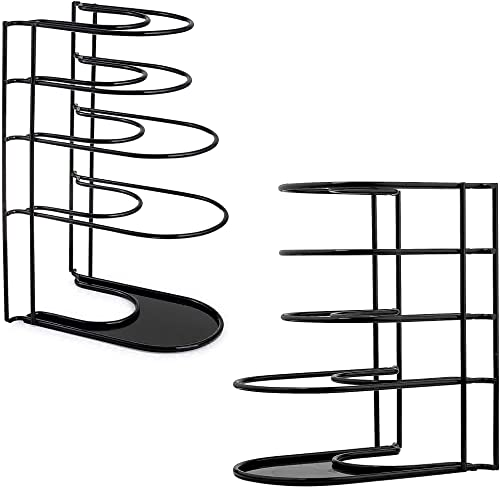 """discount Heavy Duty Pan Organizer - 12"""" + 15""""-Tall - 5 Tier Rack - Holds up to 50 LB - Holds Cast Iron Skillets, Griddles and Shallow Pots - Durable Steel Construction - Kitchen Storage - No outlet sale Assembly 2021 Required outlet online sale"""