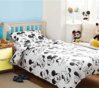 33ef3db9d1e J&T Mickey & Minnie Mouse 'Monochrome' Juego de Funda de edredón y Funda de
