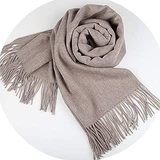 Chibi-store 100% Lamb Wool Scarf for Women Wool Pashmina Bandana Winter Spring Long Women Scarf