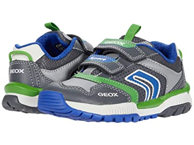 Geox Kids Tuono 3 (Toddler/Little Kid) (Grey/Royal) Boy
