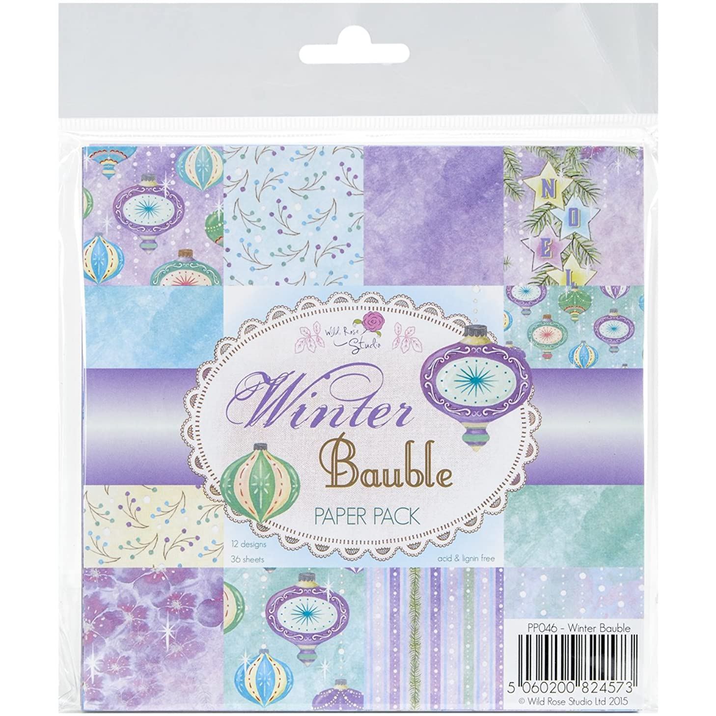 Wild Rose Studio Winter Bauble Ltd. Paper Pack, 6
