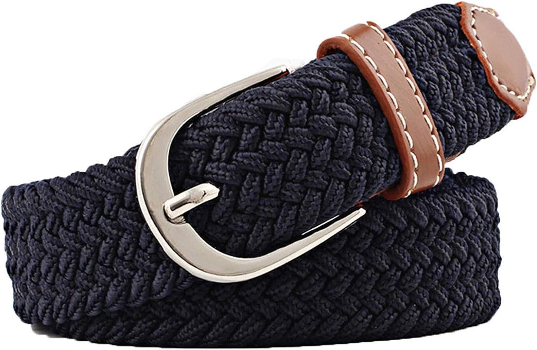 Andongnywell Unisex Stretch Belts Elastic Braided Canvas Woven Casual Belt Elegant Waist Strap Cinch Waistband